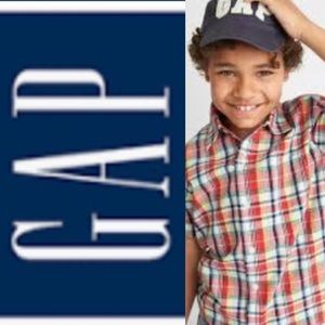 Boys Gap - short sleeved plaid shirt